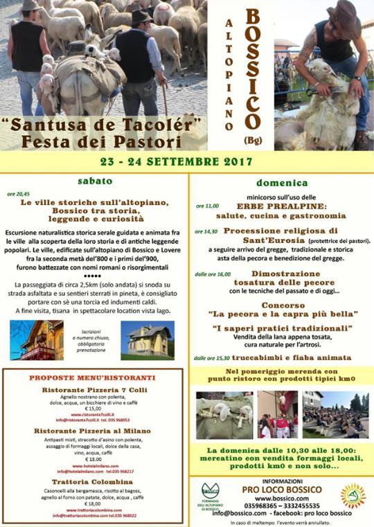 Festa dei Pastori a Bossico BG