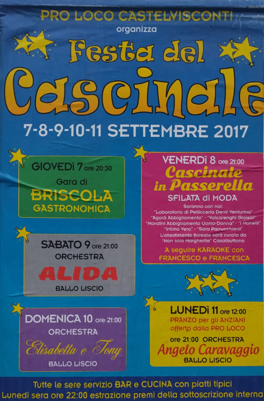 Festa del Cascinale a Castelvisconti