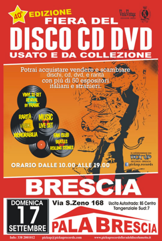 Fiera del Disco CD DVD a Brescia