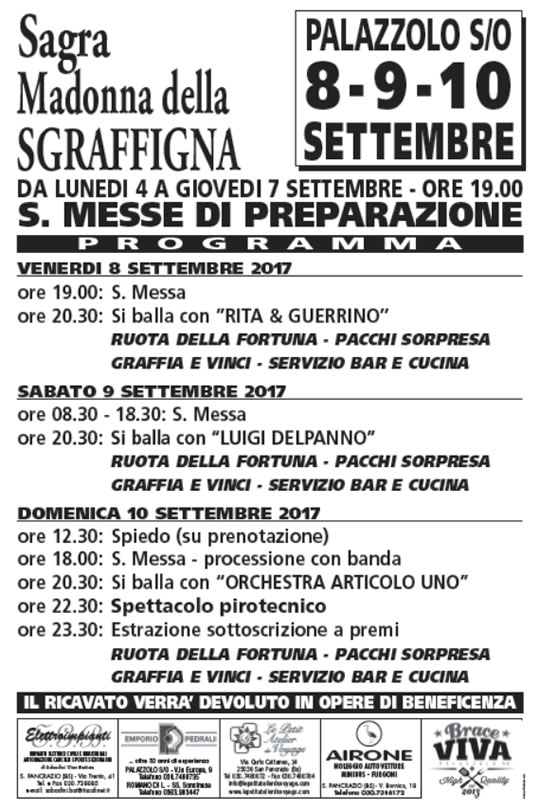 Festa Madonna della Sgraffigna a Palazzolo sull'Oglio