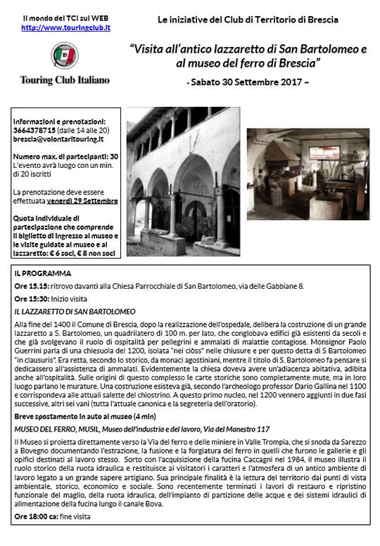 Visita all'antico lazzaretto di San Bartolomeo