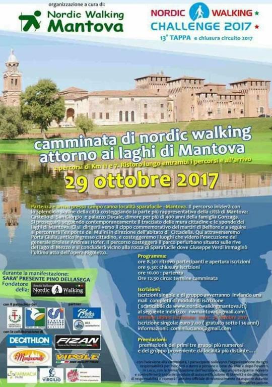 Camminata di nordic walking attorno ai laghi di Mantova