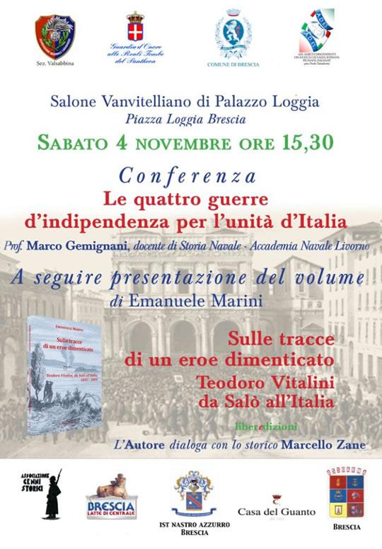 Conferenza e presentazione di un libro sulle Guerre d'Indipendenza