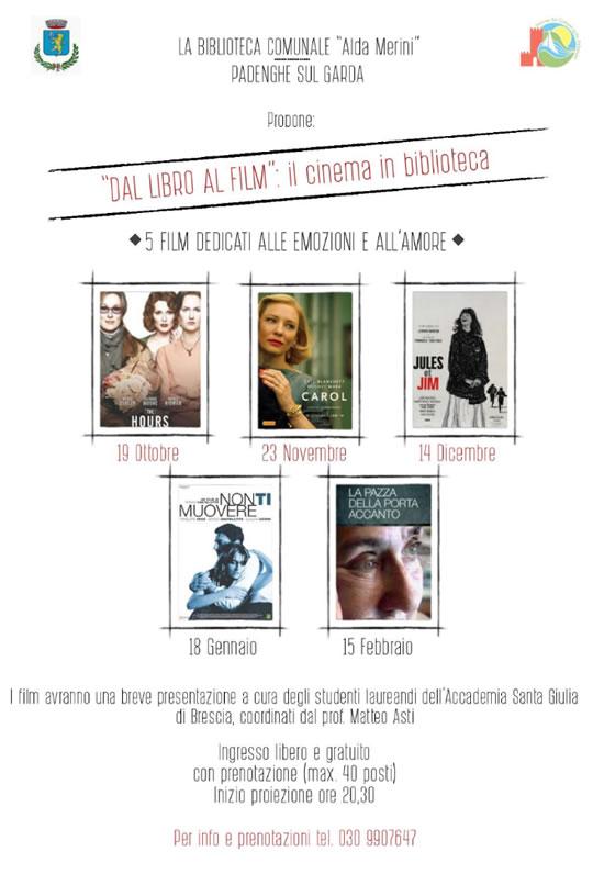 Dal Libro al Film Cinema in Biblioteca a Padenghe