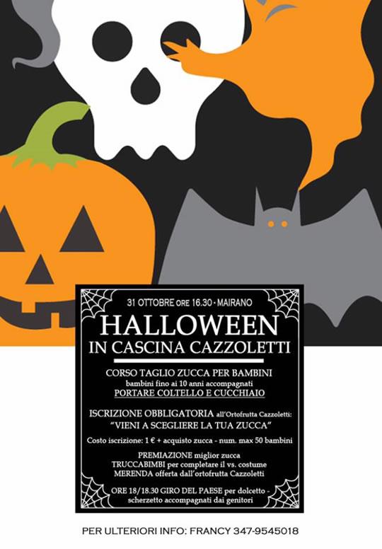 Halloween in Cascina a Mairano