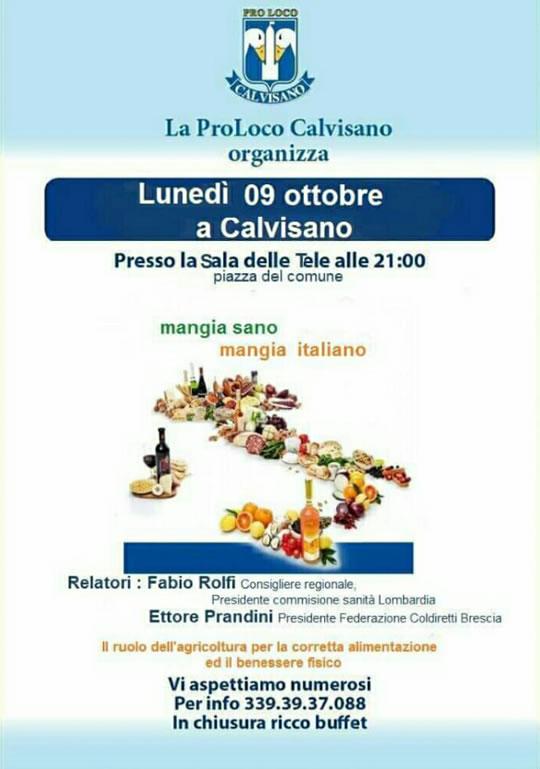 Mangia Sano Mangia Italiano a Calvisano