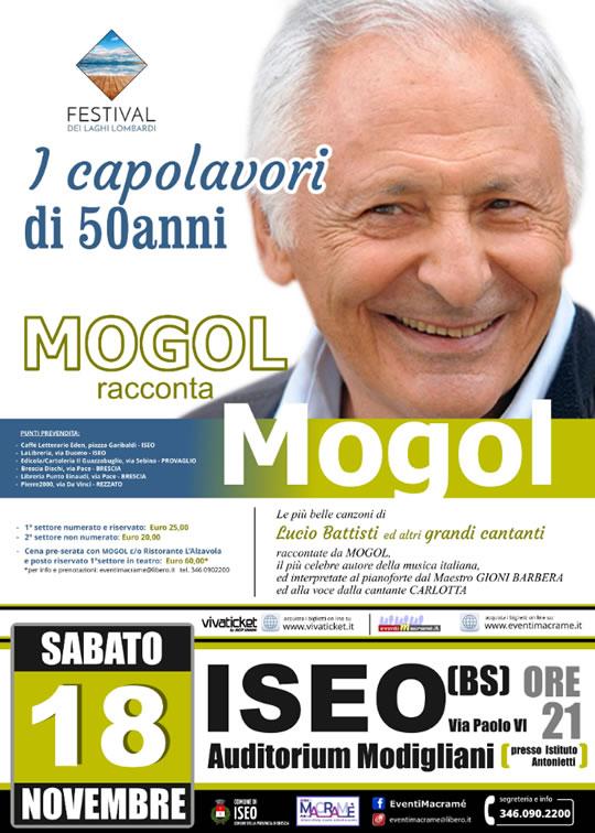 Mogol i Capolavori di 50 anni a Iseo