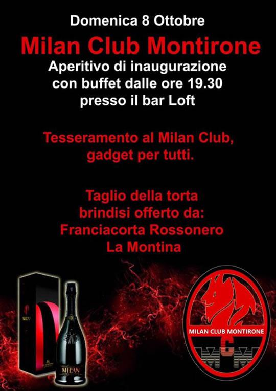 Tesseramento Milan Club a Montirone