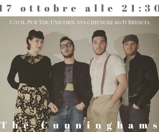 The Cunninghams live at The Unicorn Brescia