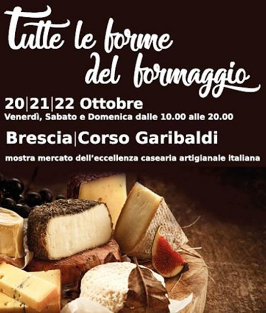 Tutte le forme del formaggio a Brescia