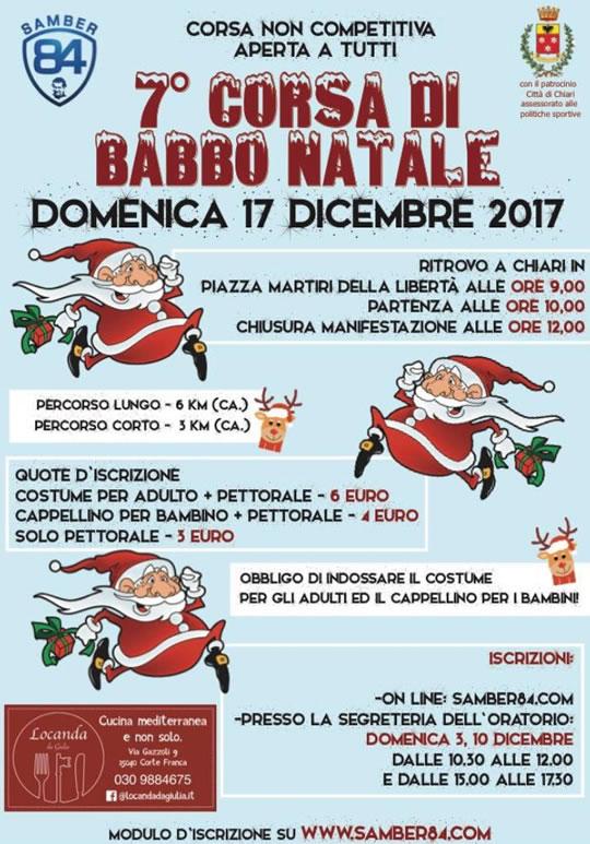 7 Corsa di Babbo Natale a Chiari