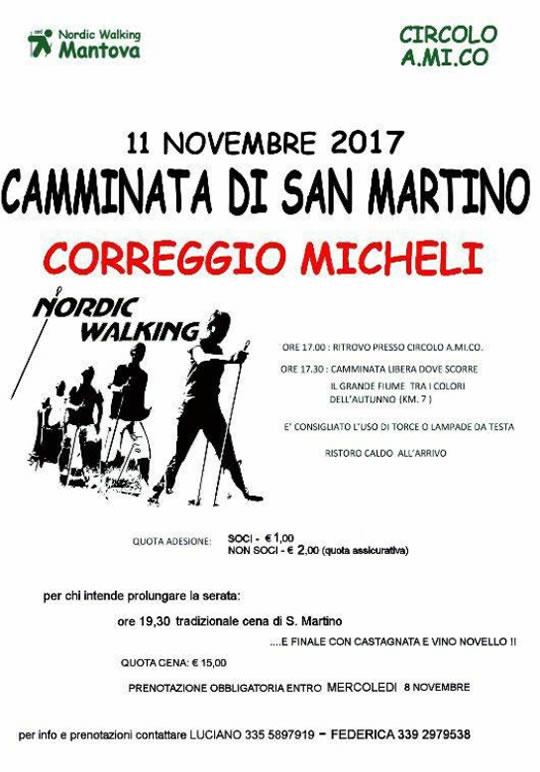 Camminata di San Martino a Correggio Micheli