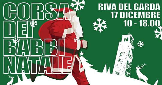 Corsa dei Babbi Natale a Riva del Garda