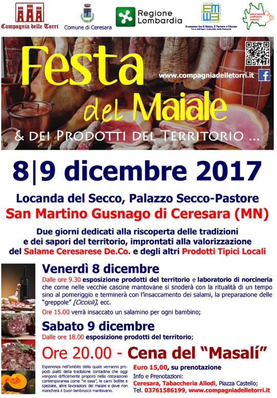 Festa del Maiale e dei Prodotti del Territorio a San Martino Gusnago MN