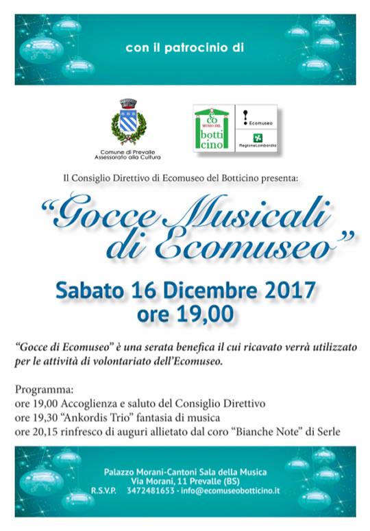 Gocce Musicali di Ecomuseo a Prevalle