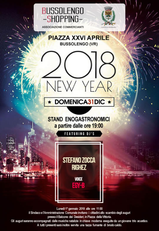2018 New Year a Bussolengo