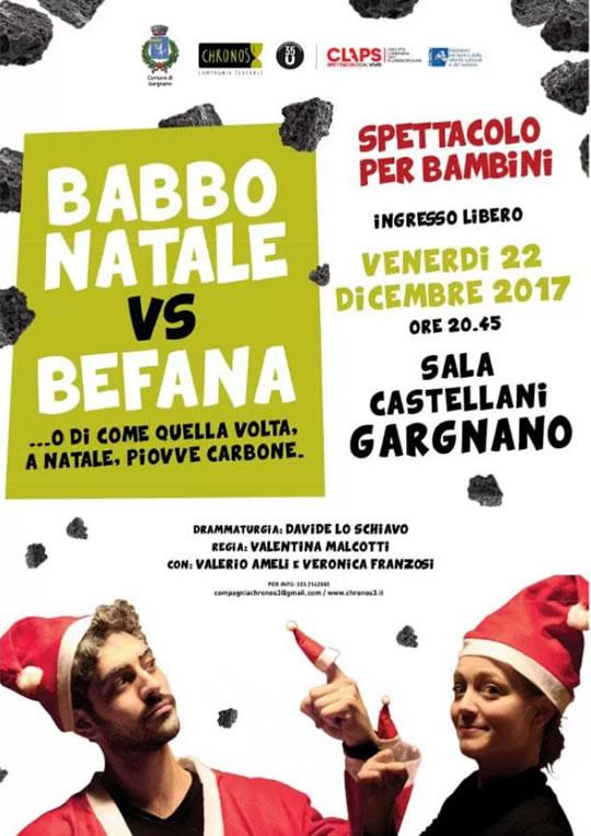 Babbo Natale  vs Befana a Gargnano