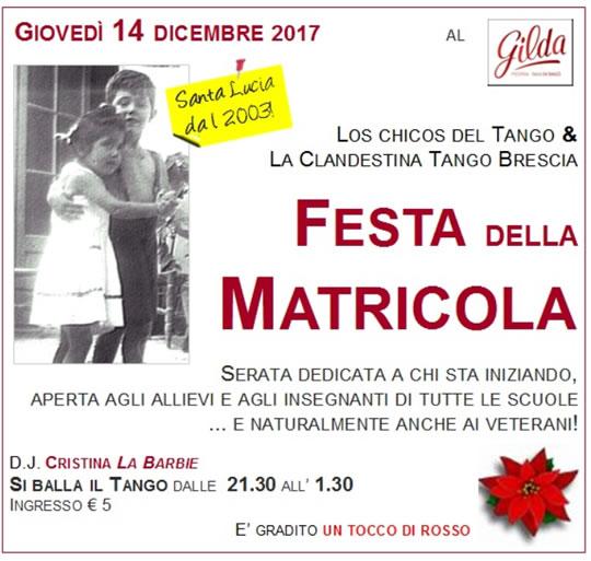 Tango. 15a Festa della Matricola a Brescia