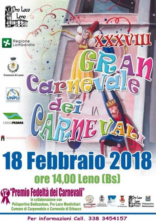 38 Gran Garnevale dei Carnevali a Leno