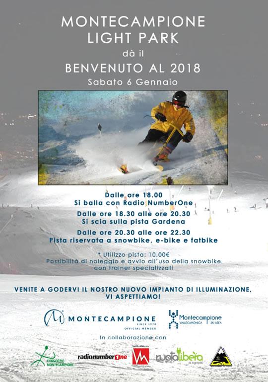 Benvenuto al 2018 a Montecampione