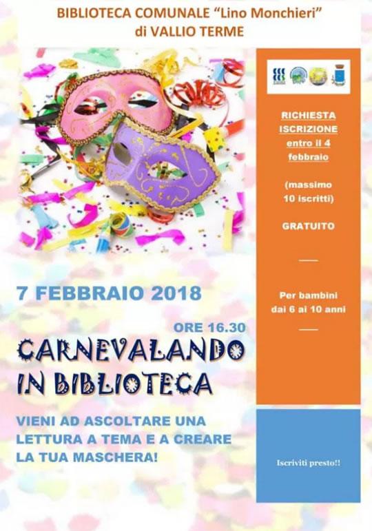 Carnevalando in Biblioteca a Vallio Terme