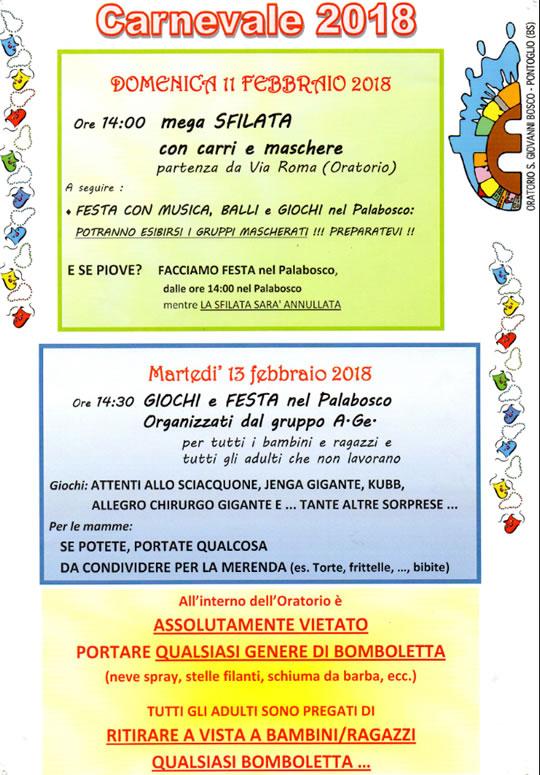 Carnevale a Pontoglio