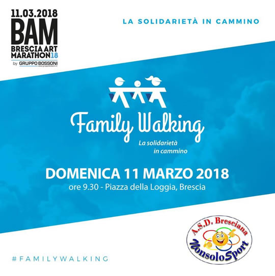 Family Walking a Brescia