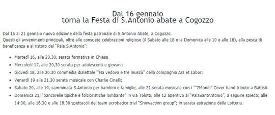Festa di Sant'Antonio Abate a Cogozzo