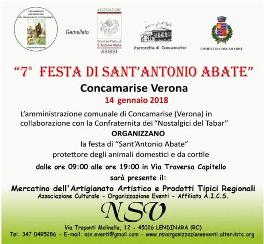 Festa di Sant'Antonio Abate a Concamarise VR