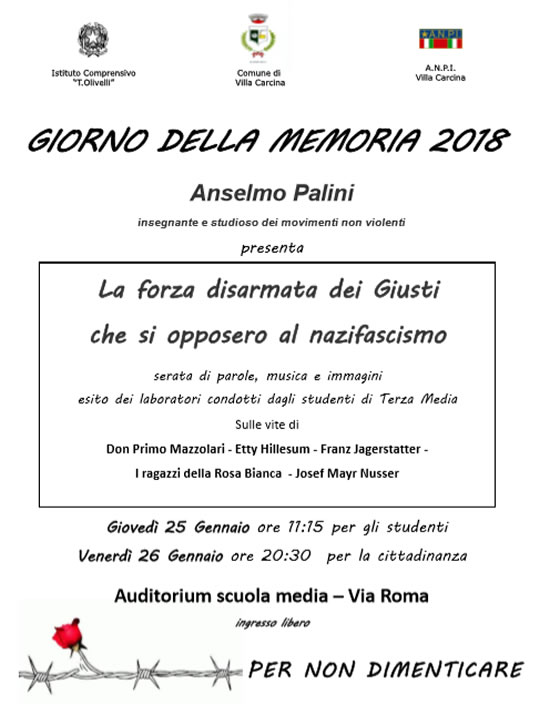 Giorno della Memoria a Villa Carcina
