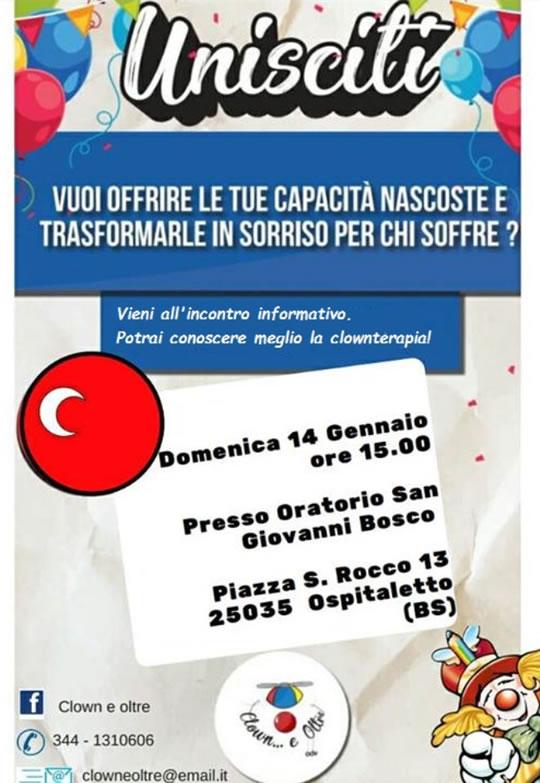 Incontro Informativo Clownterapia a Ospitaletto