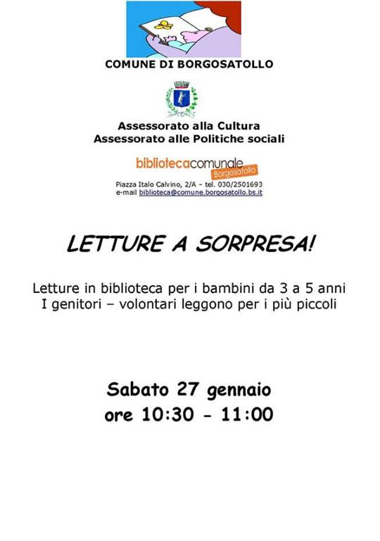 Letture a Sorpresa per Bambini a Borgosatollo