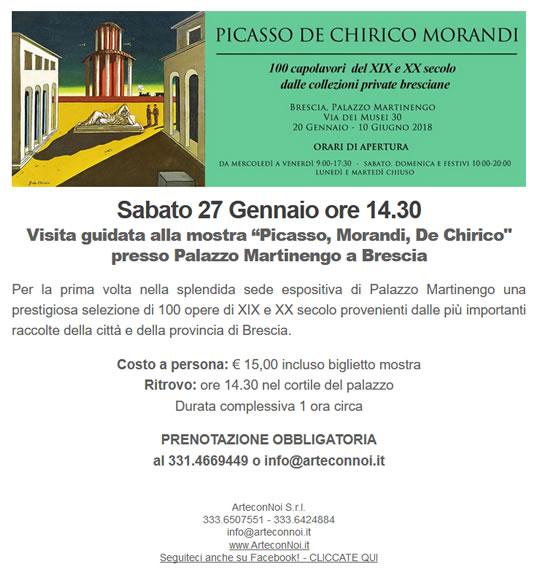 Picasso De Chirico Morandi a Brescia