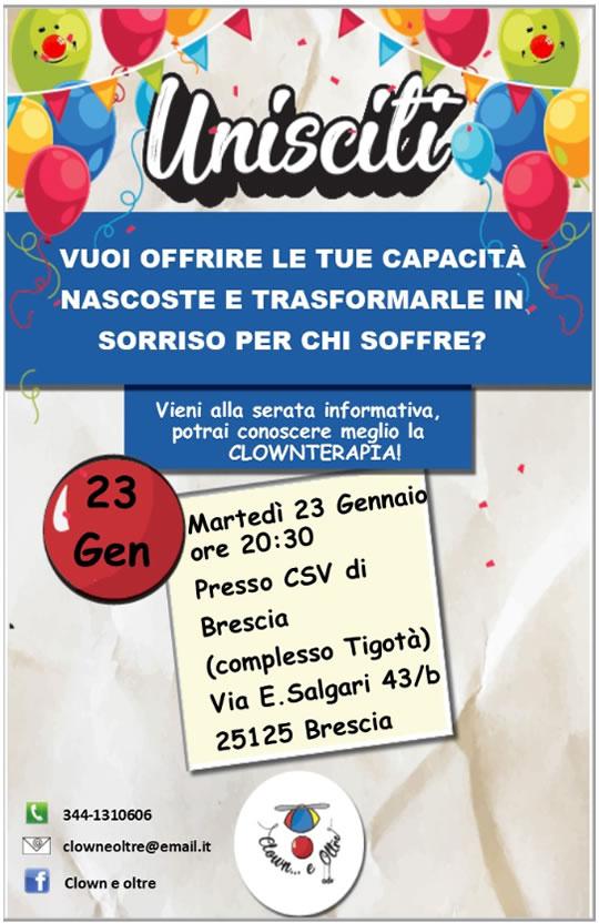 Serata Informativa sulla Clownterapia a Brescia
