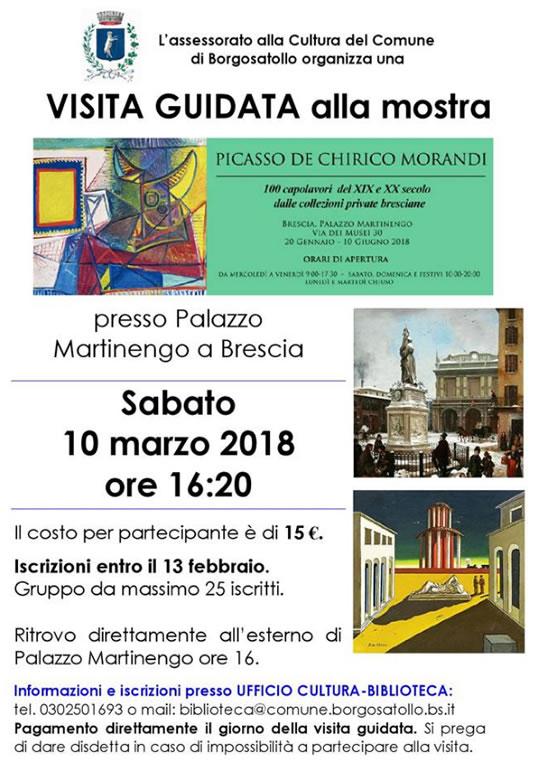 Visita Guidata alla Mostra Piccasso De Chirico Morandi