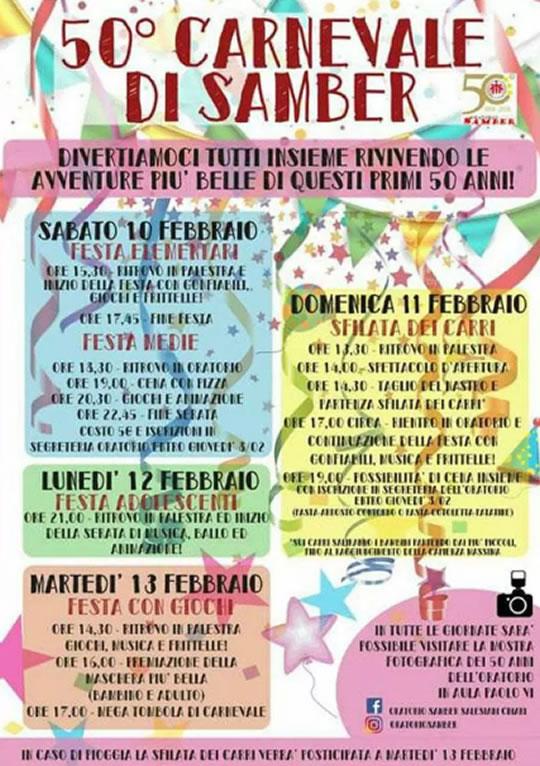 50 Carnevale di Samber a Chiari