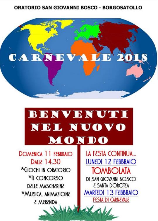 Benvenuti nel Nuovo Mondo Carnevale a Borgosatollo