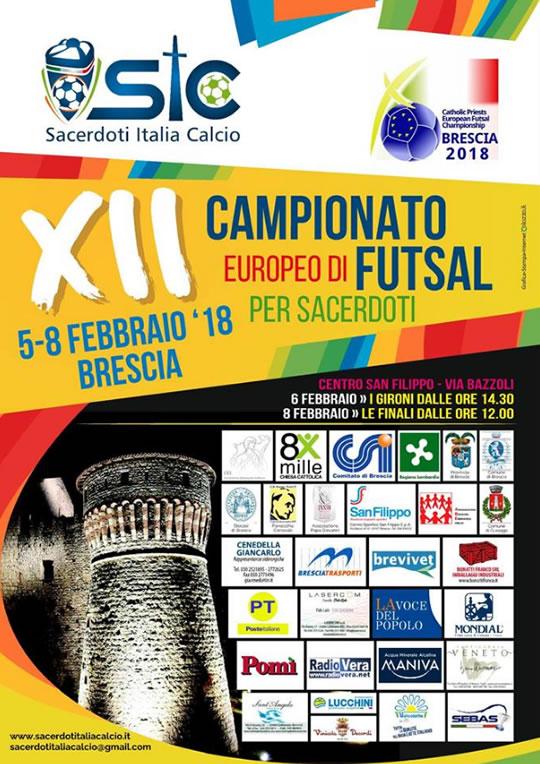 Campionato Europeo di Futsal per Sacerdoti a Brescia