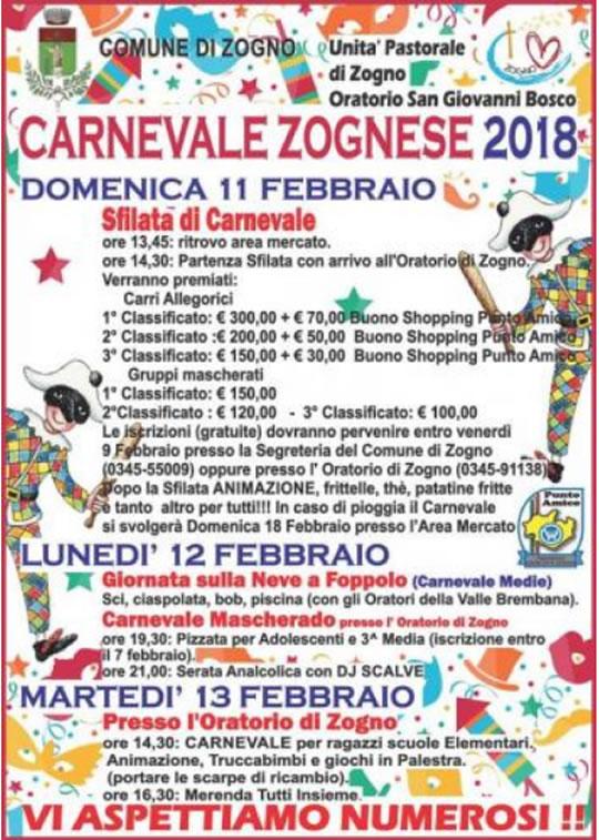 Carnevale Zognese a Zogno (BG)