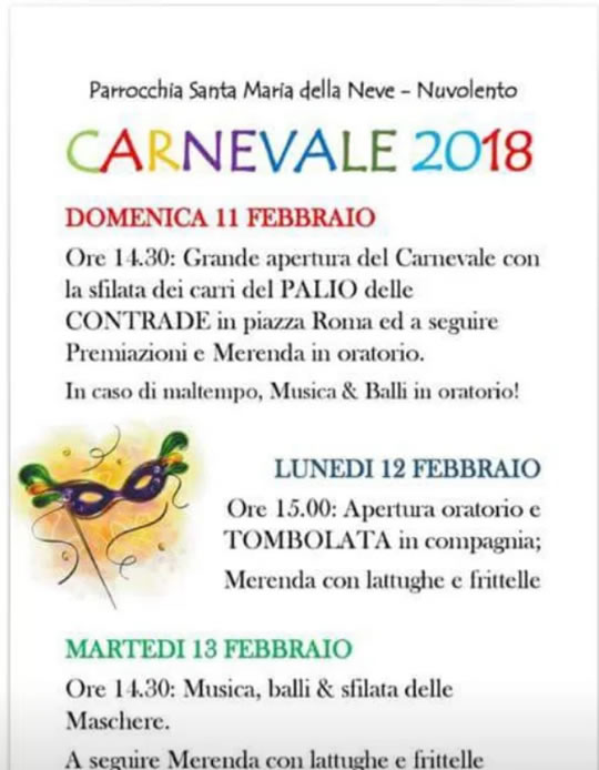 Carnevale a Nuvolento
