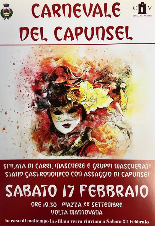 Carnevale del Capunsel a Volta Mantovana