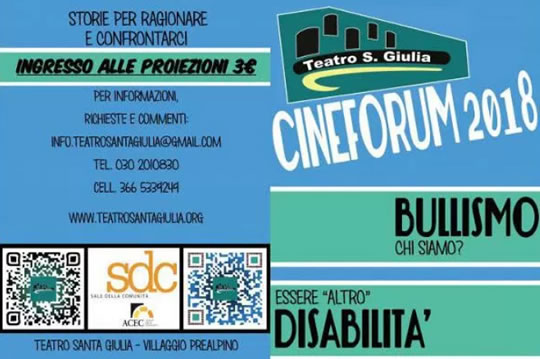 Cineforum Bullismo e Disabilità a Brescia