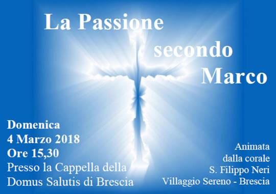 La Passione secondo Marco a Brescia