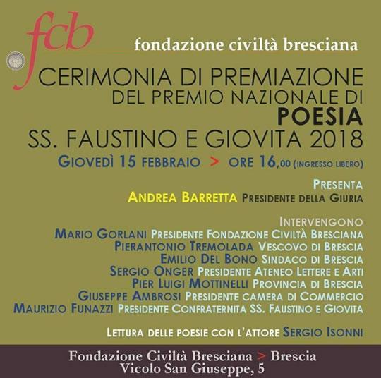 Premio Nazionale di Poesia a Brescia
