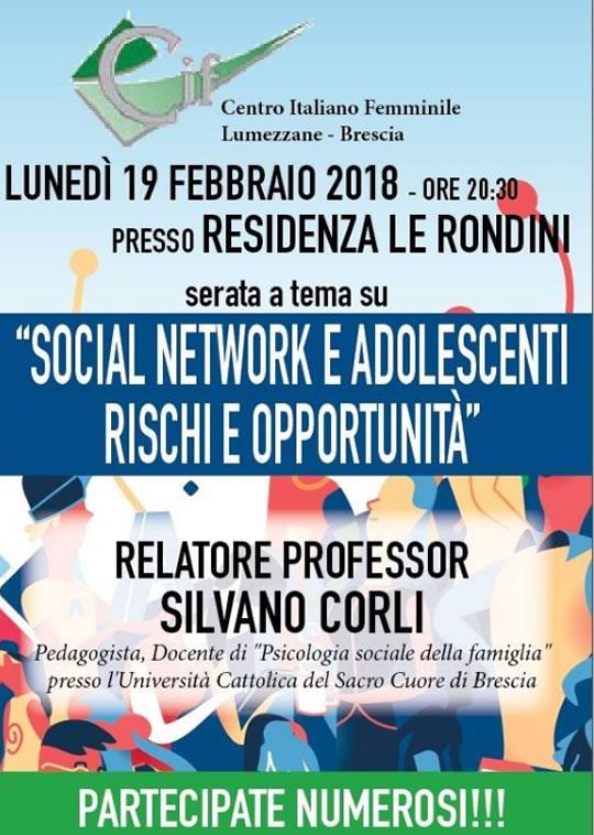 Social Network e Adolescenti Rischi e Opportunità a Lumezzane
