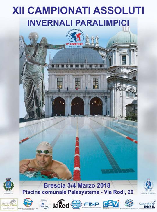 XII Campionati Assoluti Invernali Paralimpici a Brescia