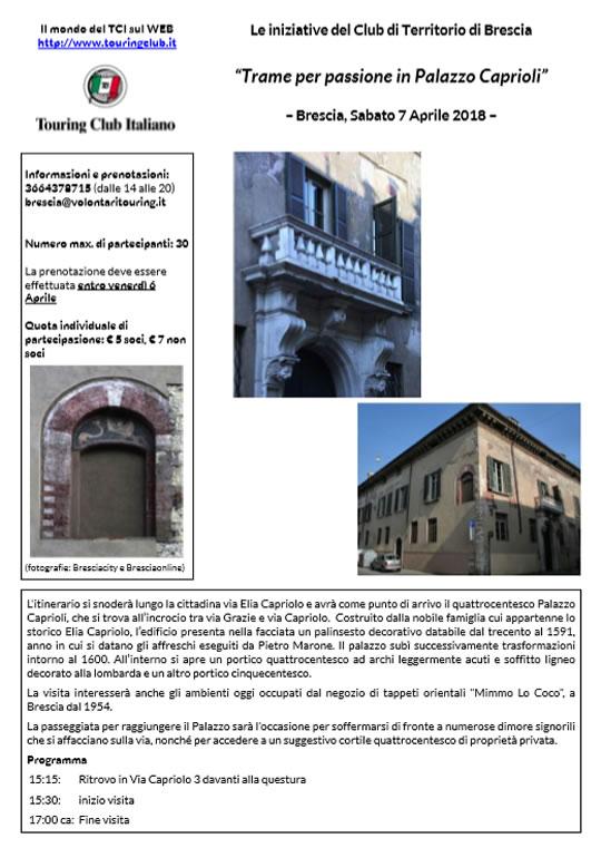 Trame per passione in Palazzo Caprioli a Brescia