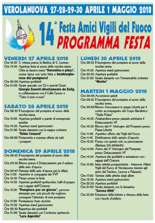 14° Festa Amici Vigili del Fuoco di Verolanuova
