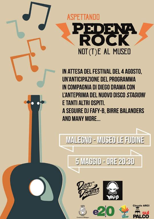 Aspettando Pedena Rock: No(t)te al Museo a Malegno