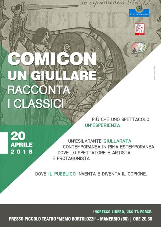 Comicon un Giullare racconta i Classici a Manerbio